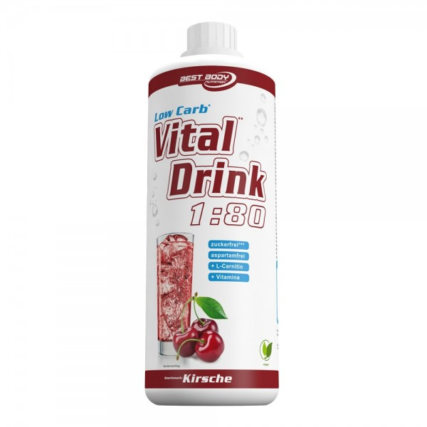 Best Body Nutrition Low Carb Vital Drink Kirsche