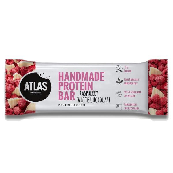 ATLAS Handmade Protein Bar 62g Raspberry White Chocolate