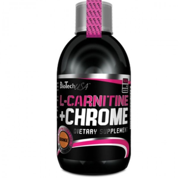 BioTech USA L-CARNITINE + CHROME LIQUID 500 ml