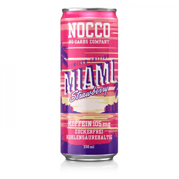 NOCCO BCAA Drink 330ml Miami Strawberry