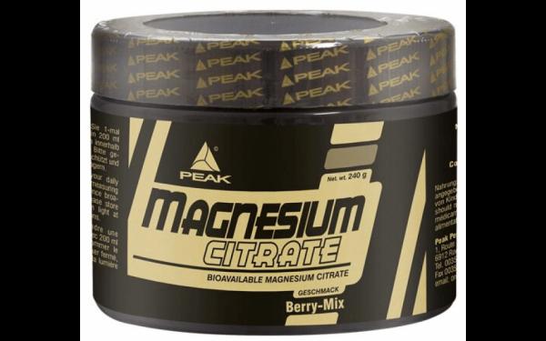 Peak Magnesium Citrate Powder 240g Berry Mix